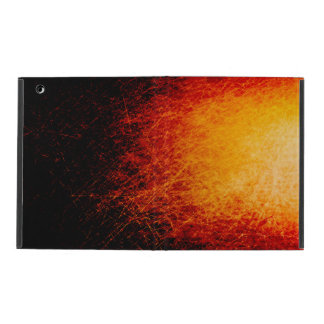 Scratched bonfire sparks and flames iPad covers