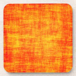 Scratched orange coaster