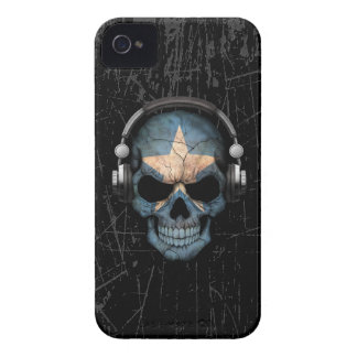 Scratched Somali Dj Skull with Headphones iPhone 4 Case-Mate Cases