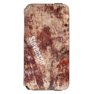 Scratched Wood - Rusty Grunge Woodgrain Look Incipio Watson™ iPhone 6 Wallet Case