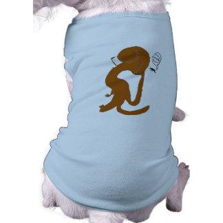 Scratching Away That Pesky Flea Sleeveless Dog Shirt