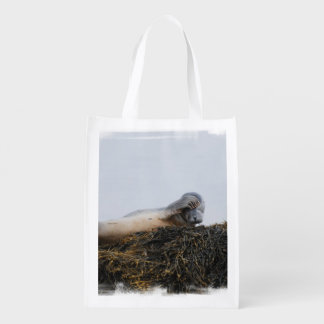 Scratching Seal Reusable Grocery Bag