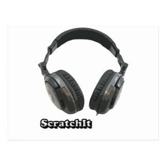 ScratchIt Headphones Postcard