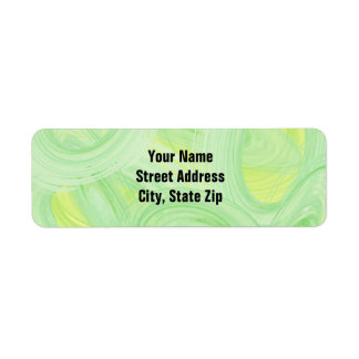 Scratchy Green Spirals Return Address Label