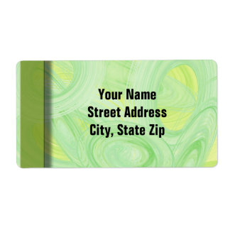 Scratchy Green Spirals Shipping Label