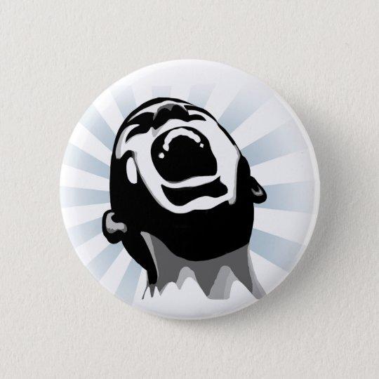 Scream halo 6 cm round badge