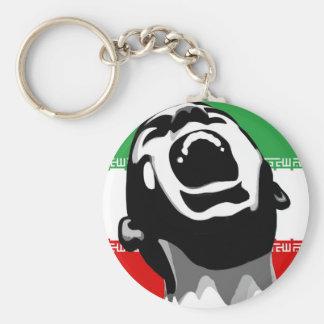 Scream Iran Basic Round Button Key Ring