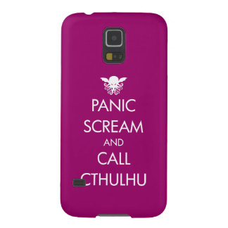 Scream Panic and Call Cthulhu Galaxy S5 Covers