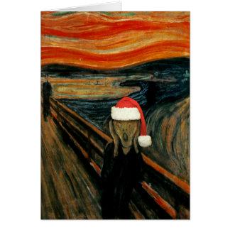 Scream Santa Greeting Card