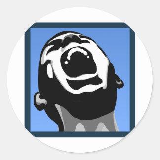Scream Square Classic Round Sticker