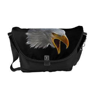Screaming American Bald Eagle Head Courier Bags