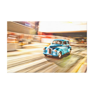 Screaming Austin Drag Racing Stretched Canvas Print