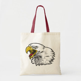 Screaming Bald Eagle Canvas Bag