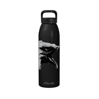 Screaming Bald Eagle in Black Pick Your Background Drinking Bottles
