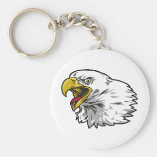 Screaming Bald Eagle Key Ring