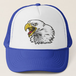 Screaming Bald Eagle Trucker Hat