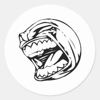 Screaming Baseball Classic Round Sticker