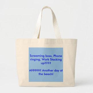 Screaming boss, Phone ringing, Work Stacking up... Jumbo Tote Bag