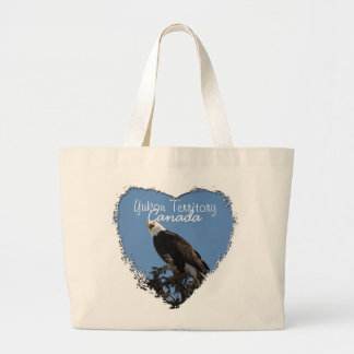 Screaming Eagle; Yukon Territory Souvenir Jumbo Tote Bag