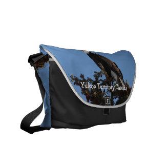 Screaming Eagle; Yukon Territory Souvenir Messenger Bag