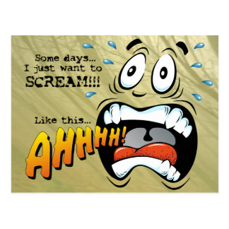 Screaming Face Postcard