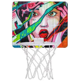 Screaming Girl Street Graffiti Mini Basketball Mini Basketball Hoop