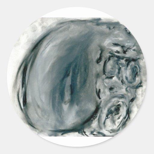 Screaming Grey Round Sticker