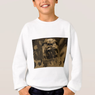 Screaming Head with Demonic Hand Sweatshirt