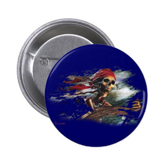 Screaming Pirate Captain by FishTs.com Buttons