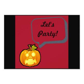 Screaming Pumpkin Party Card