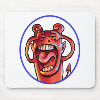 Screaming Red Devil Mouse Mat