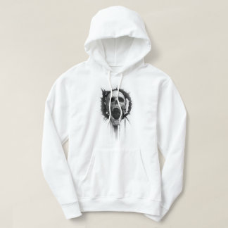 Screaming Skull (White) Hoody