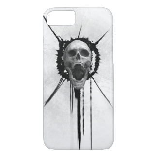 Screaming Skull (White) Iphone Case