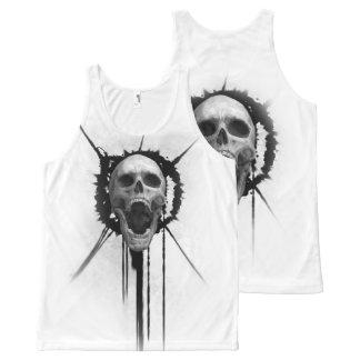 Screaming Skull (White) Tank Top