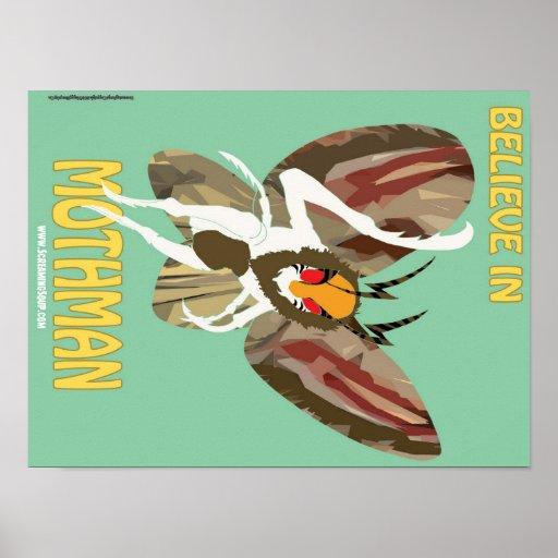 SCREAMING SOUP! Believe in Mothman Poster