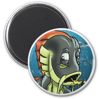SCREAMING SOUP! Catfish Underwater Round Magnet