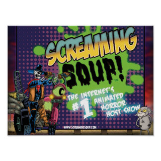 SCREAMING SOUP! Deadwest and Billy Roadside Poster