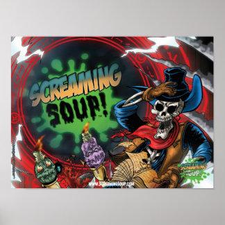 SCREAMING SOUP! Deadwest Portal Poster