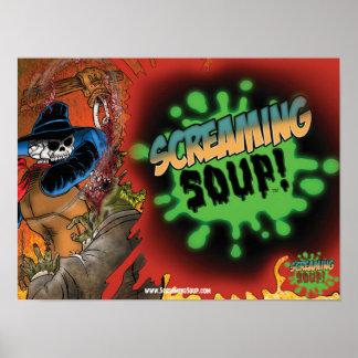 SCREAMING SOUP! Deadwest Splatter Poster