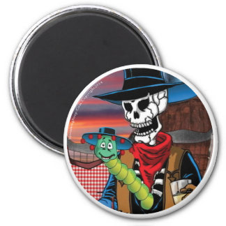 SCREAMING SOUP Deadwest Tequila Worm Round Magnet