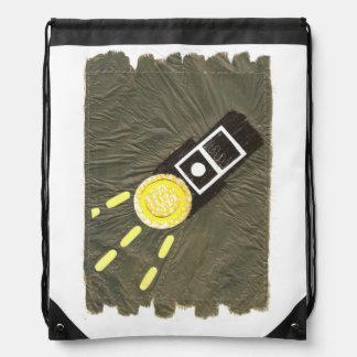 Screaming Torchlight Drawstring Bag