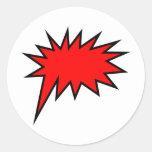 Screech Balloon Round Sticker