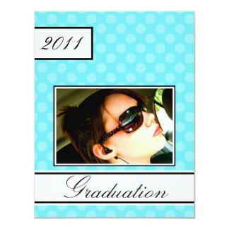 Screen Dot Aqua Open House Party Graduation 11 Cm X 14 Cm Invitation Card