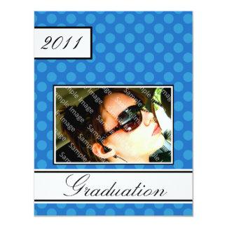Screen Dot Blue Open House Party Graduation 11 Cm X 14 Cm Invitation Card