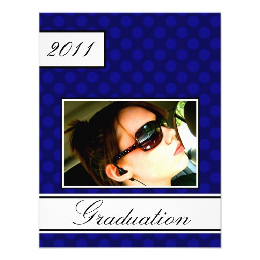Screen Dot Blue Open House Party Graduation Personalized Announcement