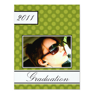 Screen Dot Green Open House Party Graduation 11 Cm X 14 Cm Invitation Card