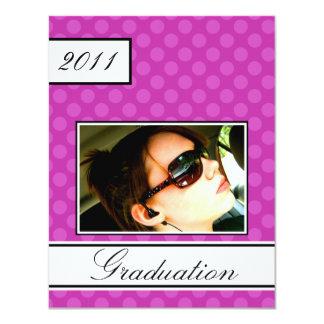 Screen Dot Pink Open House Party Graduation 11 Cm X 14 Cm Invitation Card