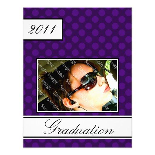 Screen Dot Purple Open House Party Graduation Custom Invite
