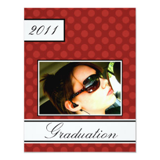 Screen Dot Red Open House Party Graduation 11 Cm X 14 Cm Invitation Card