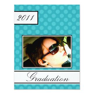 Screen Dot Teal Open House Party Graduation 11 Cm X 14 Cm Invitation Card